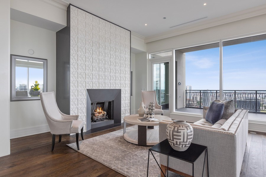 Real Estate Photography - 9 W. Walton Street, Unit 2902, Chicago, IL, 60610 - Living Room