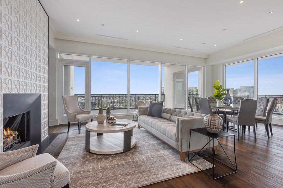 Real Estate Photography - 9 W. Walton Street, Unit 2902, Chicago, IL, 60610 - Living Room/ Dining Room