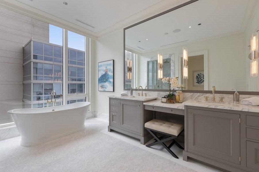 Real Estate Photography - 9 W. Walton Street, Unit 2902, Chicago, IL, 60610 - Master Bathroom