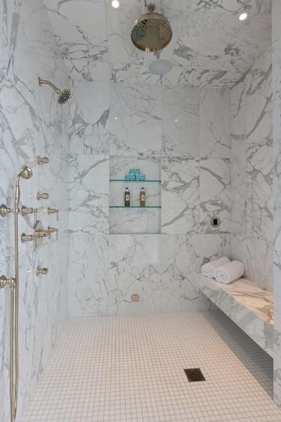 Real Estate Photography - 9 W. Walton Street, Unit 2902, Chicago, IL, 60610 - Master Bathroom Shower