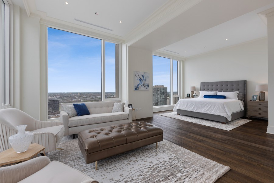 Real Estate Photography - 9 W. Walton Street, Unit 2902, Chicago, IL, 60610 - Master Bedroom/ Sitting Room