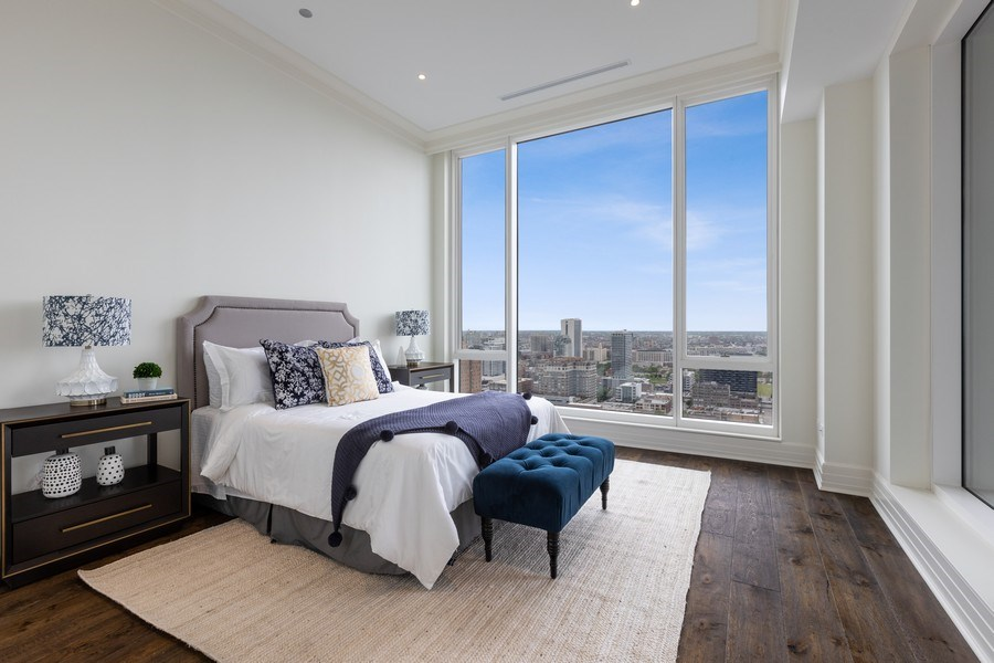 Real Estate Photography - 9 W. Walton Street, Unit 2902, Chicago, IL, 60610 - Ensuite Bedroom