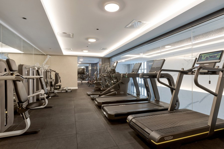Real Estate Photography - 9 W. Walton Street, Unit 2902, Chicago, IL, 60610 - Amenities - Exercise Room