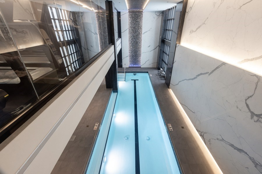 Real Estate Photography - 9 W. Walton Street, Unit 2902, Chicago, IL, 60610 - Amenities - Indoor Pool
