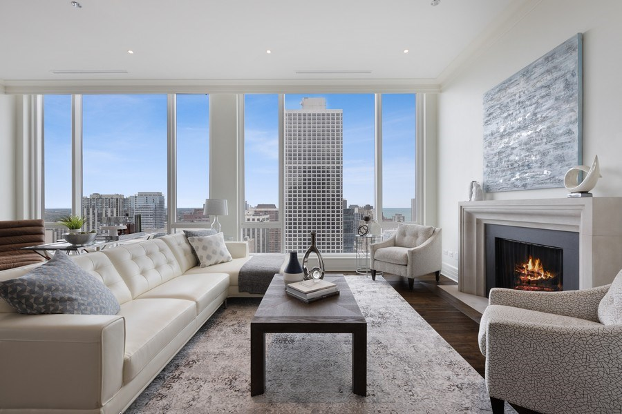 Real Estate Photography - 9 W. Walton Street, Unit 2902, Chicago, IL, 60610 - Family Room