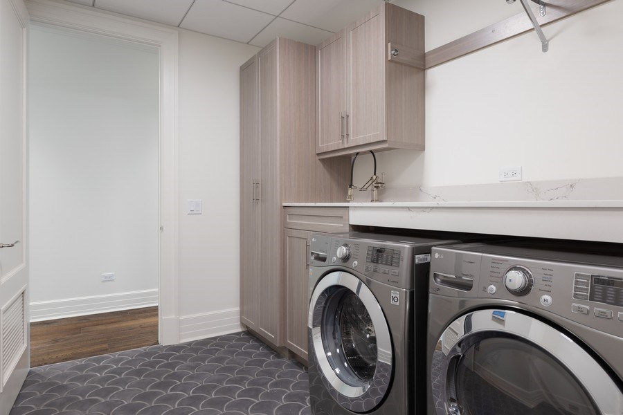 Real Estate Photography - 9 W. Walton Street, Unit 2902, Chicago, IL, 60610 - Laundry Room