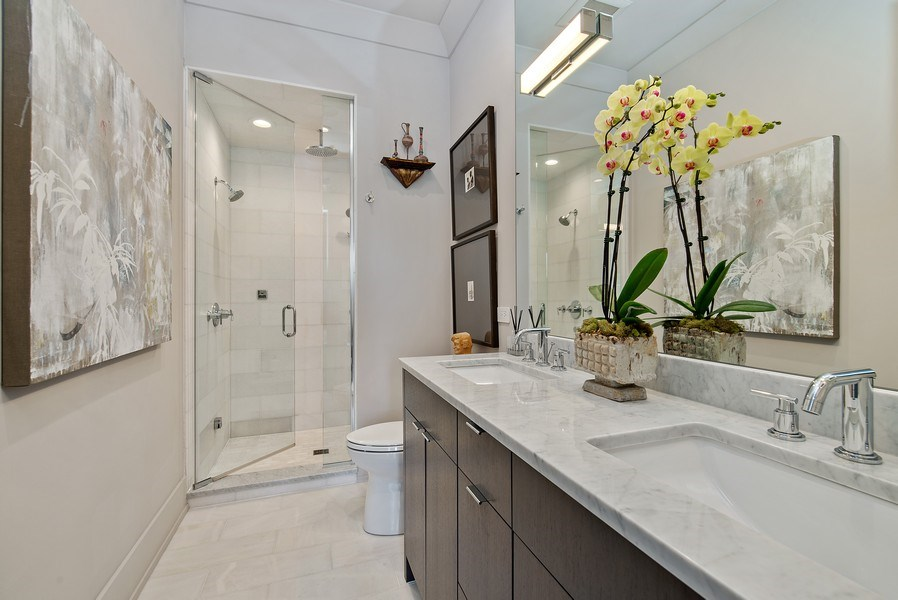 Real Estate Photography - 2744 N. Mildred Avenue, Unit 3, Chicago, IL, 60614 - Master Bathroom
