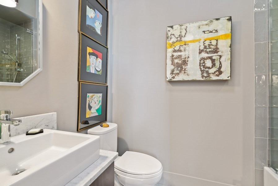 Real Estate Photography - 2744 N. Mildred Avenue, Unit 3, Chicago, IL, 60614 - 2nd Bathroom