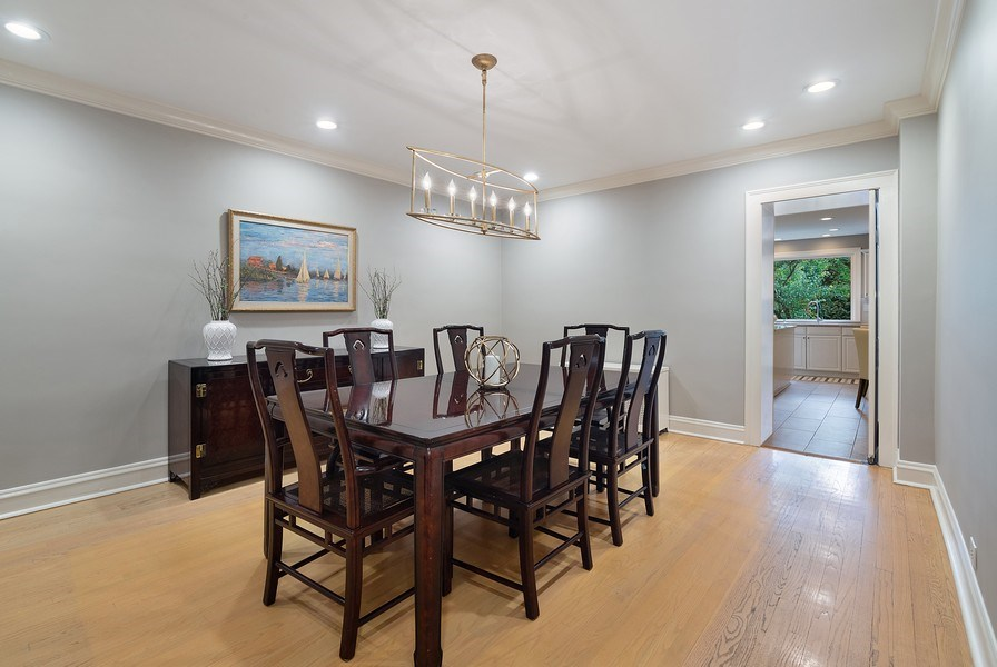Real Estate Photography - 1288 Westmoor Trail, Winnetka, IL, 60093 - Dining Room