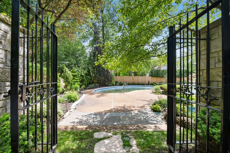 Real Estate Photography - 1288 Westmoor Trail, Winnetka, IL, 60093 - Back Yard