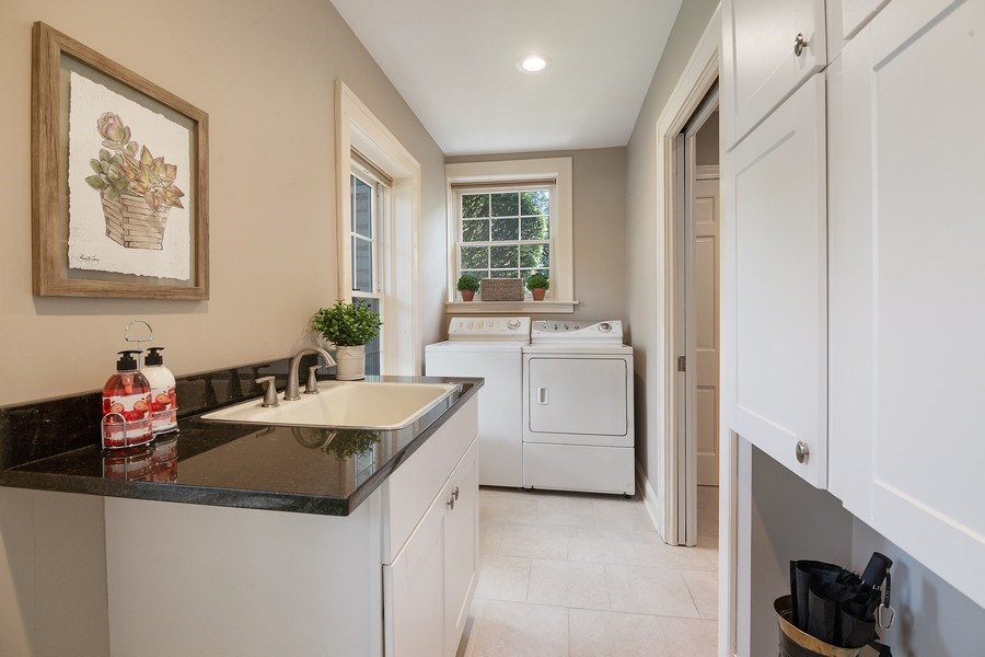 Real Estate Photography - 1288 Westmoor Trail, Winnetka, IL, 60093 - Laundry Room