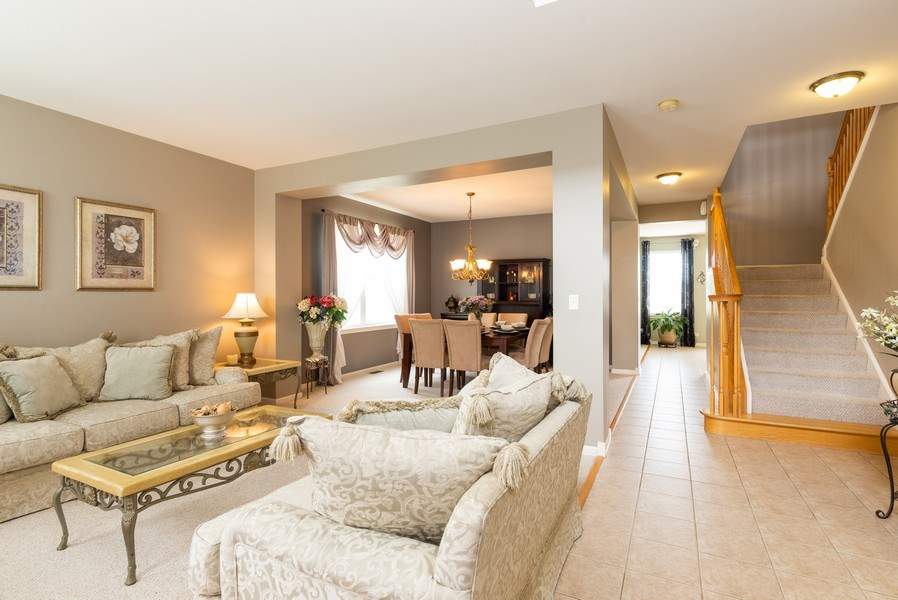Real Estate Photography - 3172 Humbolt Avenue, Elgin, IL, 60124 - Living Room / Dining Room