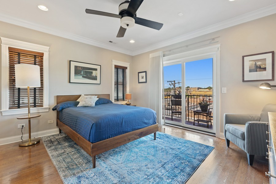 Real Estate Photography - 5014 N. KENMORE Avenue, Unit 3S, Chicago, IL, 60640 - Master Bedroom