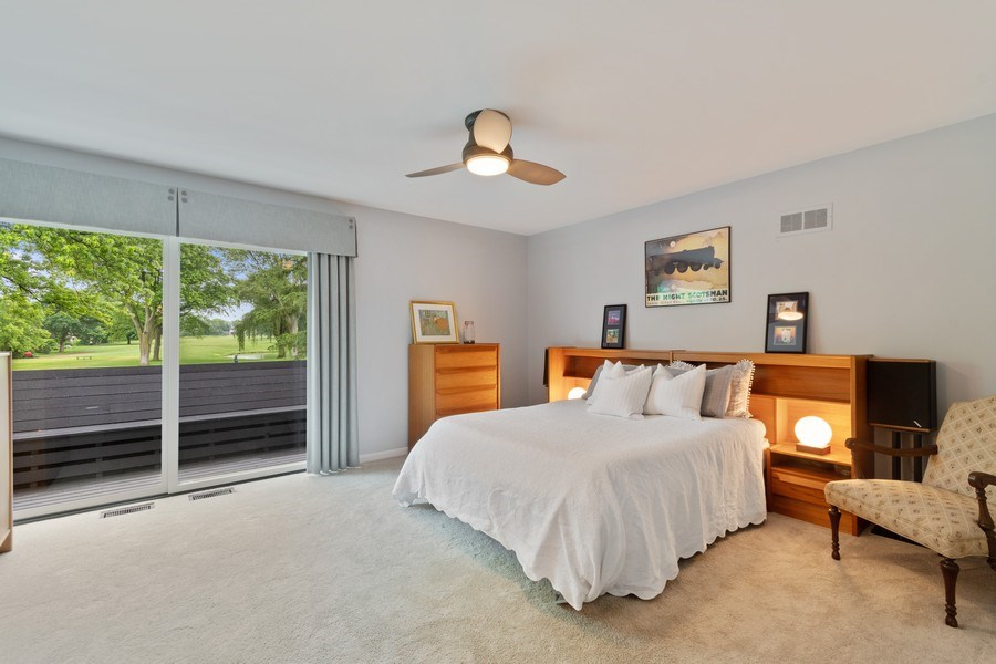 Real Estate Photography - 821 Burning Tree Ln, Naperville, IL, 60563 - MBR w/private balcony & room darkening shades