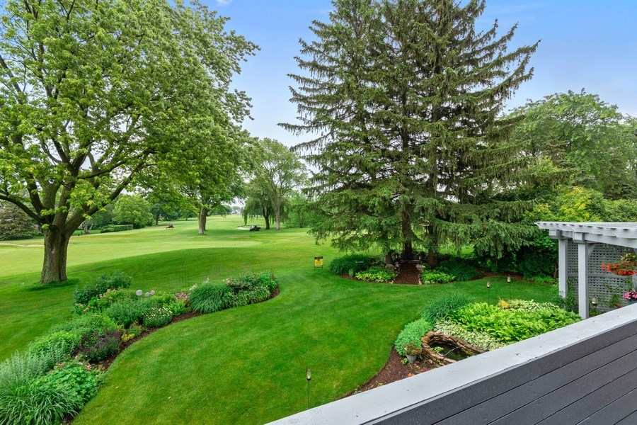 Real Estate Photography - 821 Burning Tree Ln, Naperville, IL, 60563 - Here is the view from the MBR balcony!