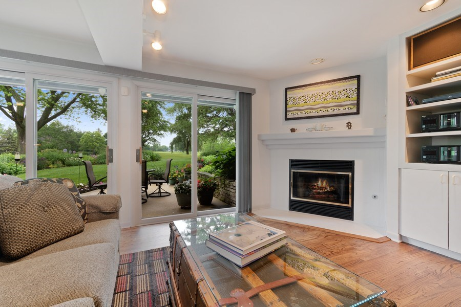 Real Estate Photography - 821 Burning Tree Ln, Naperville, IL, 60563 - Family room walks out to the patio