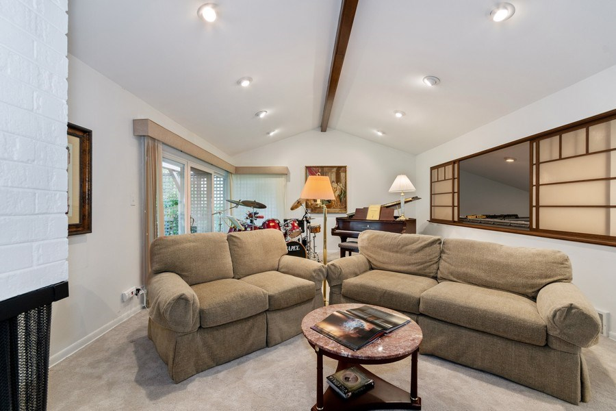 Real Estate Photography - 821 Burning Tree Ln, Naperville, IL, 60563 - Sliding windows to the right for the library