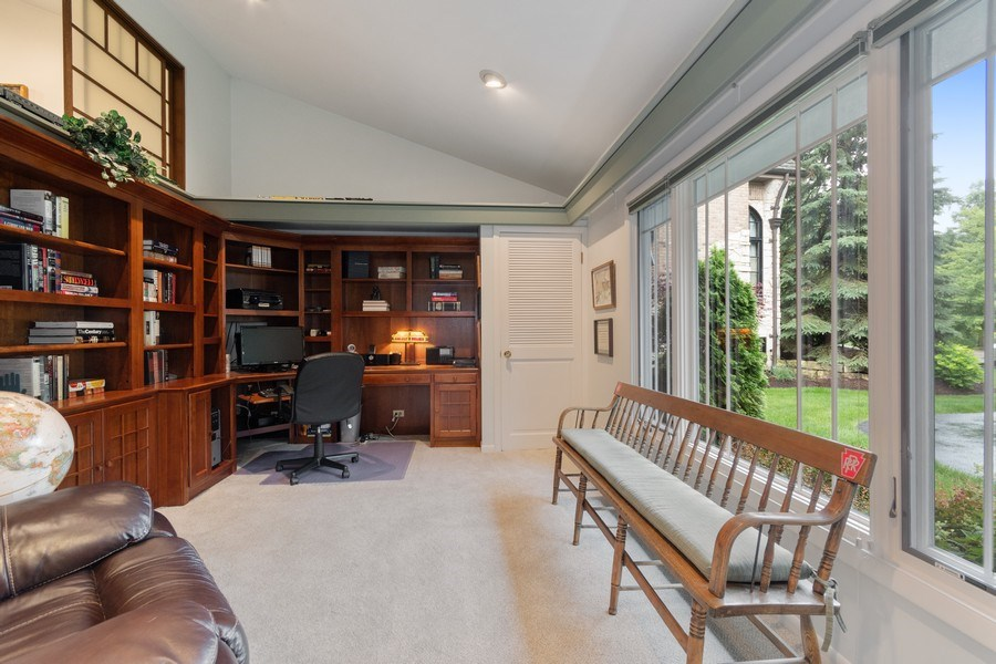 "Real Estate Photography - 821 Burning Tree Ln, Naperville, IL, 60563 - The library could even ""double"" as a 4th BR"