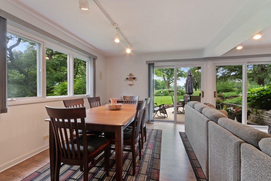 Real Estate Photography - 821 Burning Tree Ln, Naperville, IL, 60563 - The spacious eating area has awesome views