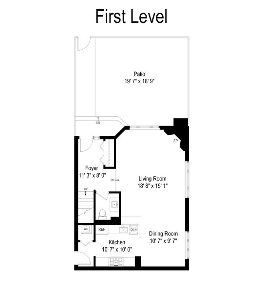 Real Estate Photography - 1720 N. La Salle Drive, Unit 7, Chicago, IL, 60614 - Floor Plan