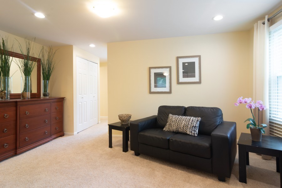 Real Estate Photography - 1339 E. Best Drive, Arlington Heights, IL, 60004 - Master Bedroom Sitting Area