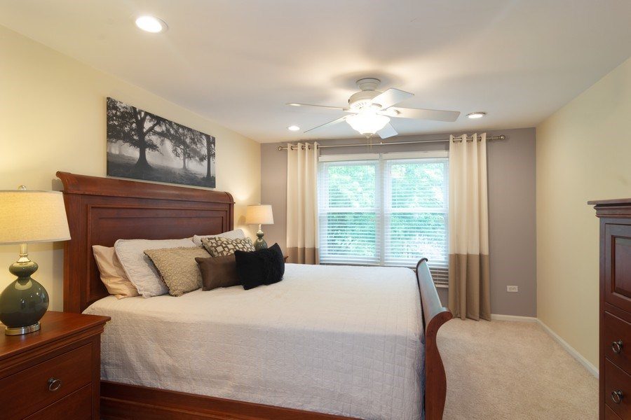 Real Estate Photography - 1339 E. Best Drive, Arlington Heights, IL, 60004 - Master Bedroom has separate Sitting & Dressing Are