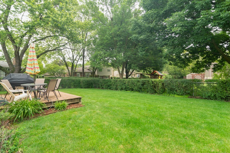 Real Estate Photography - 1339 E. Best Drive, Arlington Heights, IL, 60004 - Backyard with Trex style Deck