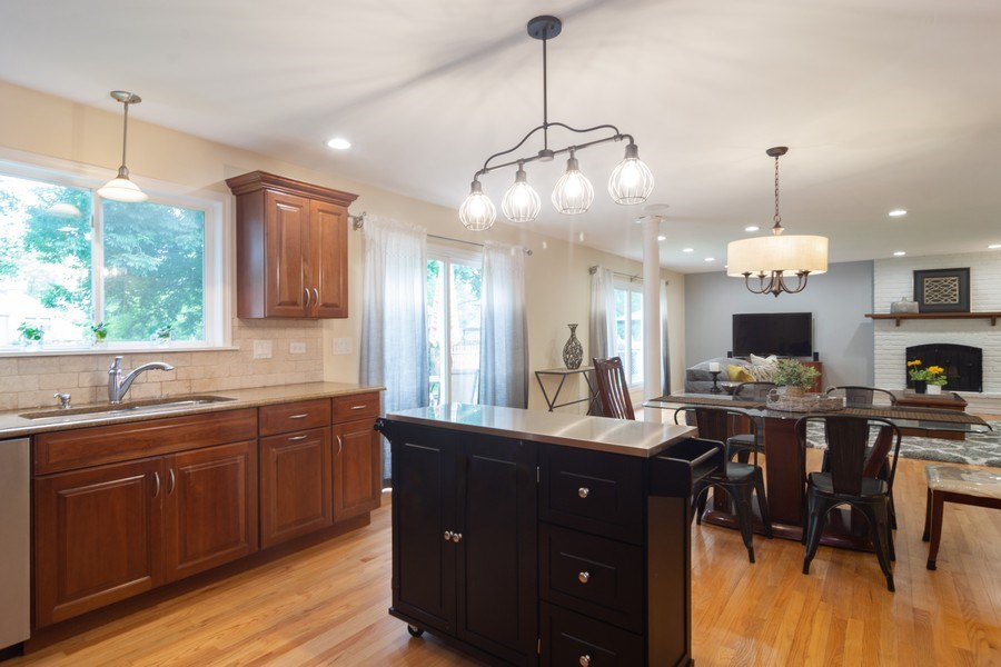 Real Estate Photography - 1339 E. Best Drive, Arlington Heights, IL, 60004 - Kitchen was expanded & opened to Family Room