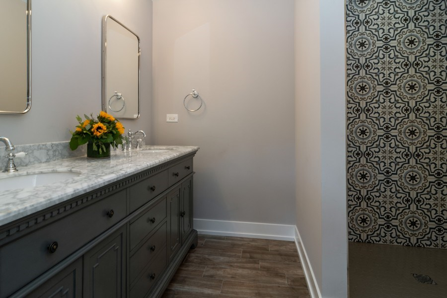 Real Estate Photography - 1023 Marengo Avenue, Forest Park, IL, 60130 - Master Bathroom