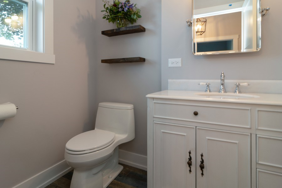 Real Estate Photography - 1023 Marengo Avenue, Forest Park, IL, 60130 - Powder Room
