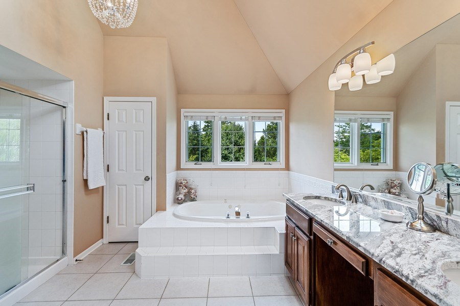 Real Estate Photography - 40W186 Jack London Street, St. Charles, IL, 60175 - Master Bathroom