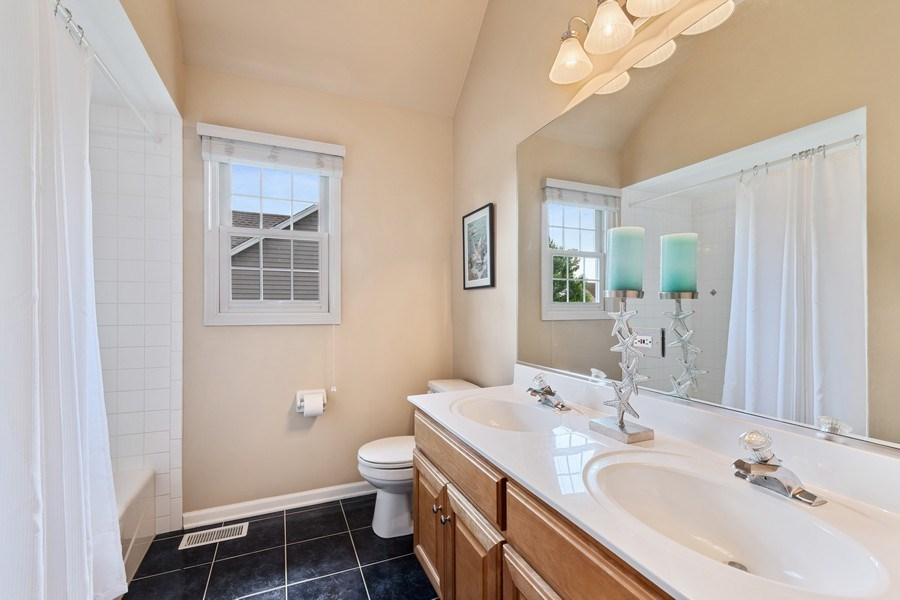 Real Estate Photography - 40W186 Jack London Street, St. Charles, IL, 60175 - 2nd Bathroom