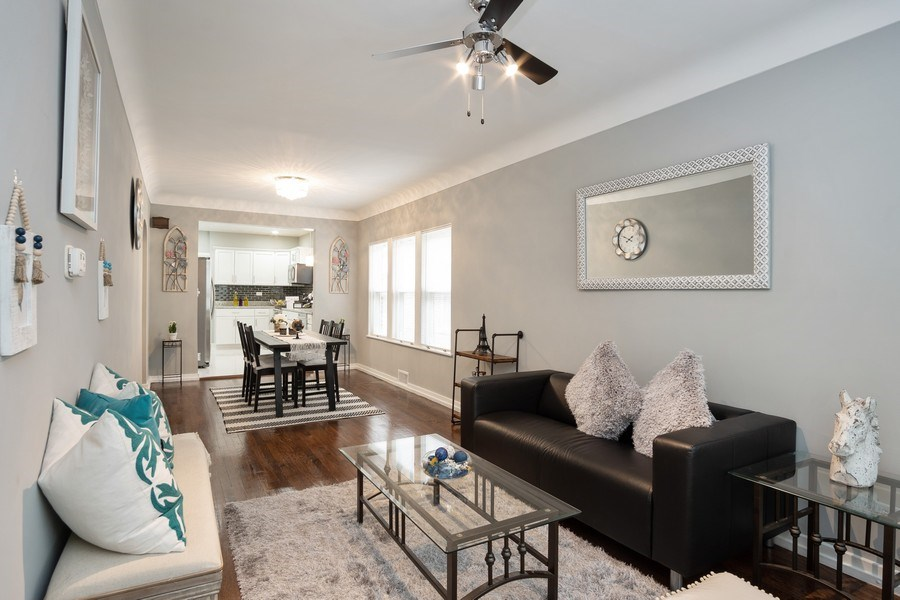 Real Estate Photography - 3127 Highland Avenue, Berwyn, IL, 60402 - Living Room / Dining Room