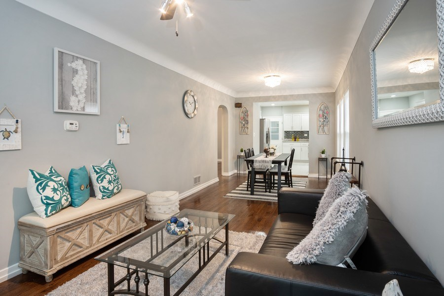 Real Estate Photography - 3127 Highland Avenue, Berwyn, IL, 60402 - Living Room/Dining Room