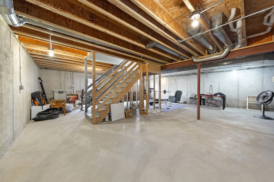 Real Estate Photography - 24265 Eagle Chase Drive, Plainfield, IL, 60544 - Unfinished Basement