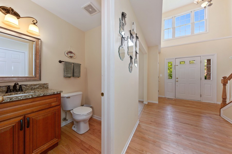 Real Estate Photography - 24265 Eagle Chase Drive, Plainfield, IL, 60544 - Powder Room