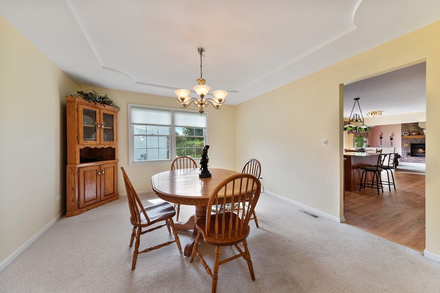 Real Estate Photography - 24265 Eagle Chase Drive, Plainfield, IL, 60544 - Dining Room