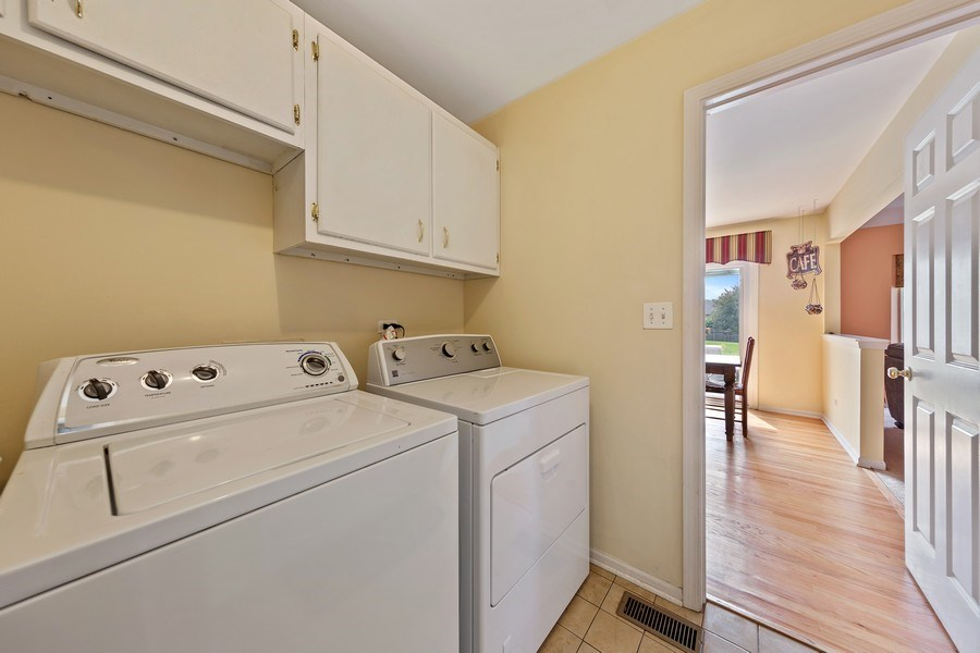 Real Estate Photography - 24265 Eagle Chase Drive, Plainfield, IL, 60544 - Laundry Room