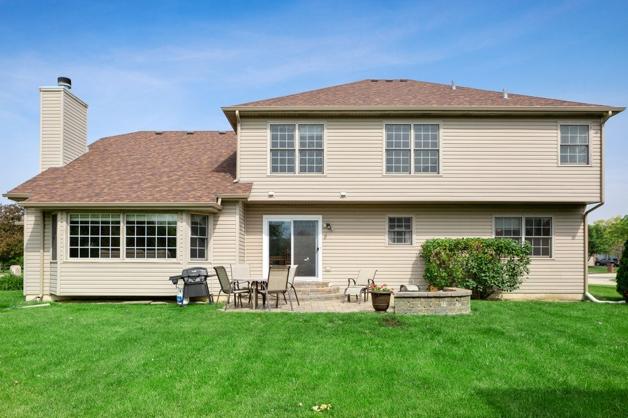 Real Estate Photography - 24265 Eagle Chase Drive, Plainfield, IL, 60544 - Rear View