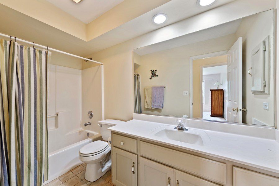 Real Estate Photography - 24265 Eagle Chase Drive, Plainfield, IL, 60544 - Hall Bathroom