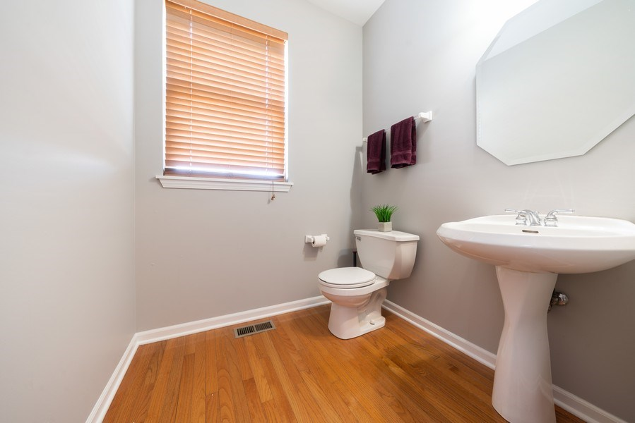 Real Estate Photography - 777 Barclay Drive, Bolingbrook, IL, 60440 - Powder Room