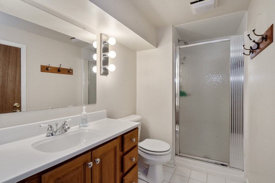 Real Estate Photography - 258 Pebble Creek Drive, Tower Lakes, IL, 60010 - Lower Level Bathroom