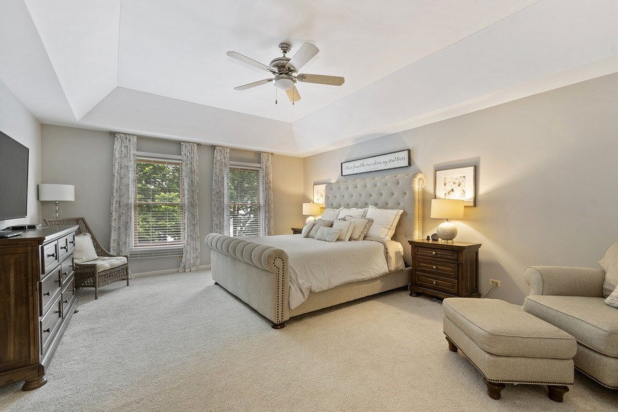 Real Estate Photography - 924 Erb Farm Lane, Naperville, IL, 60563 - Master Bedroom