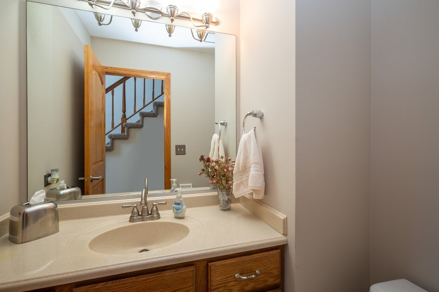 Real Estate Photography - 324 Ridgewood Drive, Bloomingdale, IL, 60108 - Powder Room