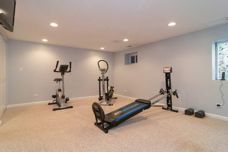 Real Estate Photography - 501 S. Brighton Lane, Palatine, IL, 60067 - Workout Room/5th Bedroom