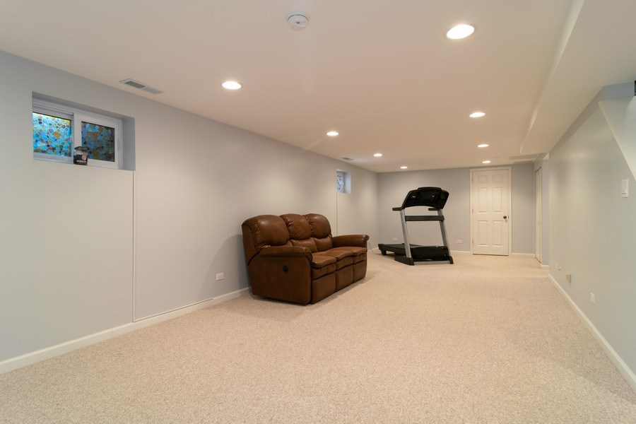 Real Estate Photography - 501 S. Brighton Lane, Palatine, IL, 60067 - Basement Rec Room