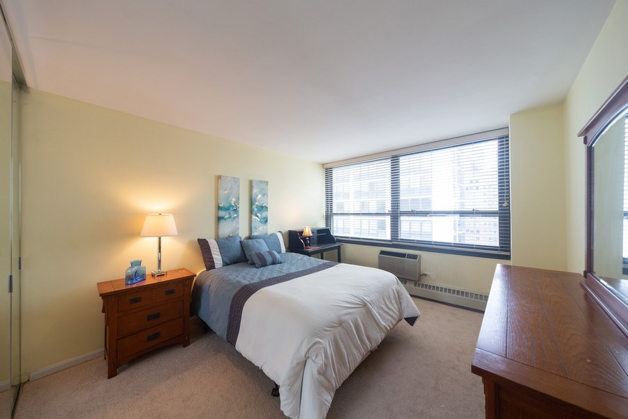 Real Estate Photography - 33 E. Cedar Street, Unit 19C, Chicago, IL, 60611 - Master Bedroom