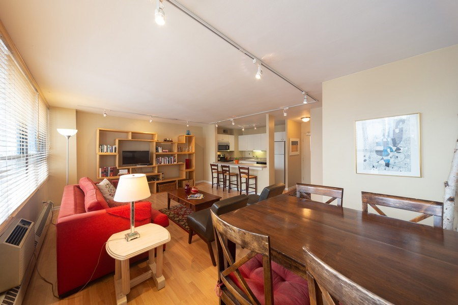 Real Estate Photography - 33 E. Cedar Street, Unit 19C, Chicago, IL, 60611 - Living Room/Dining Room