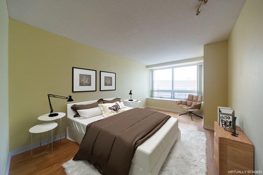 Real Estate Photography - 512 N. McClurg Court, Unit 3412, Chicago, IL, 60611 - Master Bedroom