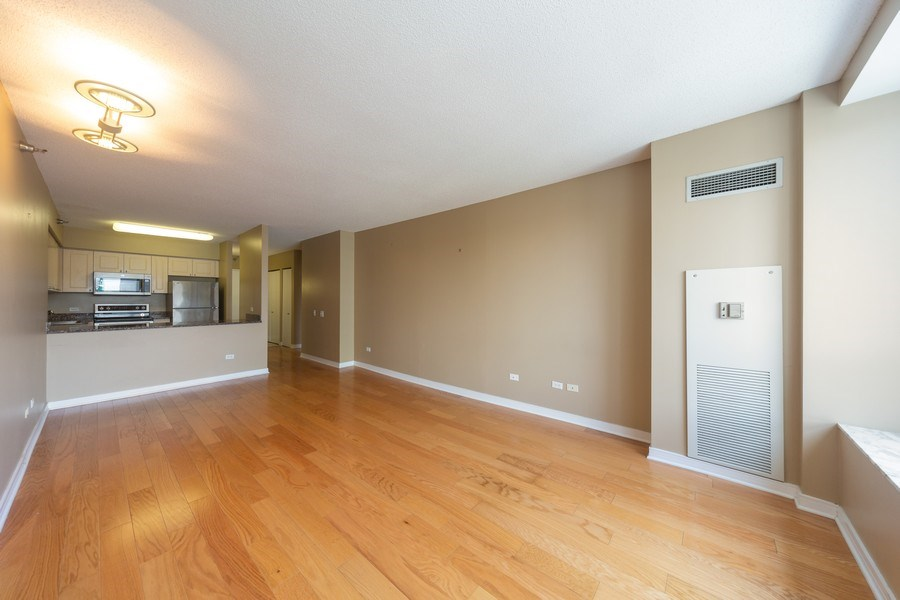 Real Estate Photography - 512 N. McClurg Court, Unit 3412, Chicago, IL, 60611 - Kitchen / Living Room